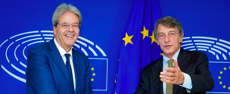 PARLAMENTO EUROPEO * INCONTRO PRESIDENTE SASSOLI - COMMISSARIO GENTILONI: « VIDEO MEEETING »