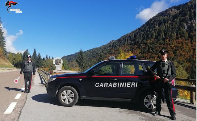CARABINIERI - RIVA DEL GARDA * DROGA: « ARRESTATO 36ENNE ALBANESE RESIDENTE NELLA PROVINCIA DI COMO »