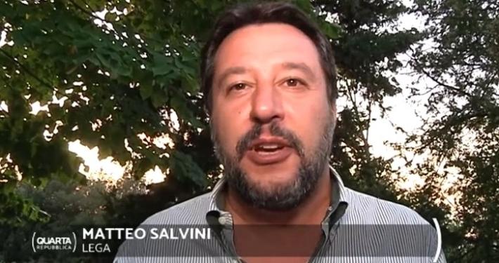 RETE 4 - ' QUARTA REPUBBLICA ' * PUNTATA DEL 30 SETTEMBRE 2019, « L'INTERVISTA A MATTEO SALVINI » ( RIVEDI / REPLAY / REPLICA )