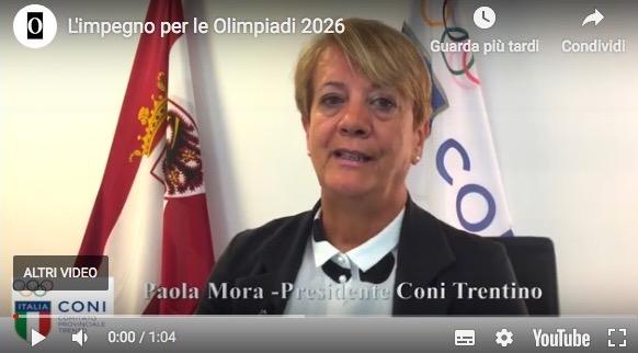 CONI TRENTINO * VIDEOINTERVISTA PRESIDENTE PAOLA MORA: « L'IMPEGNO PER LE OLIMPIADI 2026 »