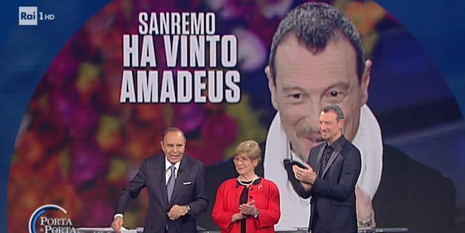 """RAI 1 - """" PORTA A PORTA """" * PUNTATA DELL'11 FEBBRAIO 2020, « SANREMO: HA VINTO AMADEUS » ( RIVEDI / REPLAY / REPLICA )"""