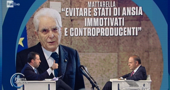 """RAI 1 - """" PORTA A PORTA """" * PUNTATA DEL 5/3 - 3 MARZO 2020, « BRUNO VESPA INTERVISTA IL LEADER DELLA LEGA MATTEO SALVINI » RIVEDI / REPLAY / REPLICA - (VIDEO INTEGRALE)PER RIVEDERE LA PUNTATA CLICCA QUI."""