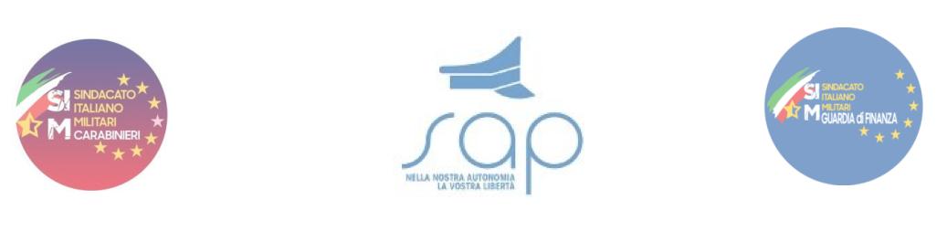 SAP POLIZIA SIM CARABINIERI E SIM GDF * EMERGENZA CORONAVIRUS: PAOLONI, « INDISPENSABILI I TAMPONI ALLE FORZE DELL'ORDINE, MISURA PER SALVAGUARDARE L'INTERO APPARATO »