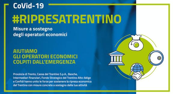PAT * #RIPRESATRENTINO: « AL VIA LE MISURE A SOSTEGNO DEGLI OPERATORI ECONOMICI, POSSONO PRESENTARE DOMANDA ATTRAVERSO LA PIATTAFORMA ONLINE »