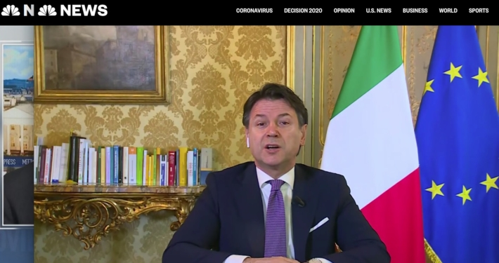 WWW.NBCNEWS.COM/ * FULL ITALIAN PM GIUSEPPE CONTE: «WE ARE SUFFERING VERY MUCH, THE NEXT STEPS ITALY CONTINUES ITS NATIONAL LOCKDOWN »