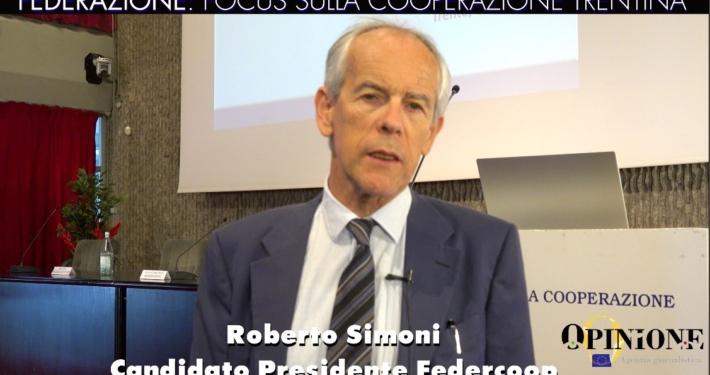 """VIDEOINTERVISTA A ROBERTO SIMONI - CANDIDATO PRESIDENTE """"FEDERAZIONE TRENTINA DELLA COOPERAZIONE"""" (LINK)"""