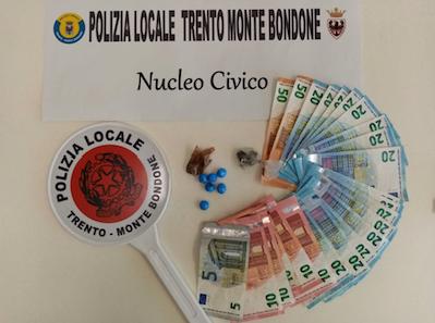 COMUNE DI TRENTO - POLIZIA LOCALE * DROGA: « ARRESTATO IN VIA SUFFRAGIO SPACCIATORE EXTRACOMUNITARIO »