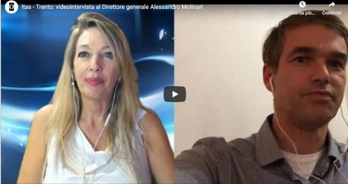 GRUPPO ITAS - TRENTO * VIDEOINTERVISTA OPINIONE AD ALESSANDRO MOLINARI,  DIRETTORE GENERALE ED AMMINISTRATORE DELEGATO: « BILANCIO - TERRITORIO - COVID - SPORT »