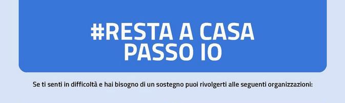 """PROVINCIA AUTONOMA TRENTO * """" #RESTA A CASA PASSO IO """": « UN SUPPORTO PER LE PERSONE FRAGILI, ATTIVO IL NUMERO GRATUITO 0461/495244 (DAL LUNEDÌ AL VENERDÌ DALLE 10.00 ALLE 12.00) »"""