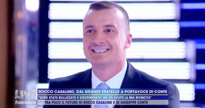 """CANALE 5 - """"LIVE - NON È LA D'URSO"""" * INTERVISTA: ROCCO CASALINO, «SALVINI? MI È SIMPATICO, MAGARI PER ANDARE UNA SERA AL PAPETE »"""