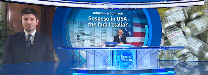 "RAI 1 - "" PORTA A PORTA "" * PUNTATA DEL 13 APRILE 2021, « VACCINO JOHNSON & JOHNSON SOSPESO IN USA, CHE FARÀ L'ITALIA? » RIVEDI / REPLAY / REPLICA - (VIDEO INTEGRALE)"