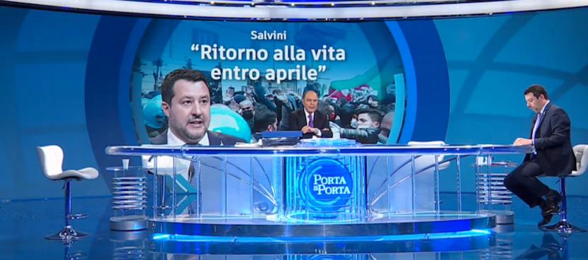 """RAI 1 - """" PORTA A PORTA """" * PUNTATA DEL 14 APRILE 2021, SALVINI: « RITORNO ALLA NORMALITÀ ENTRO APRILE » RIVEDI / REPLAY / REPLICA - (VIDEO INTEGRALE)"""