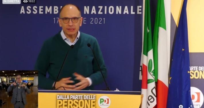 PD - PARTITO DEMOCRATICO * ASSEMBLEA NAZIONALE:« SABATO 7 APRILE 2021 / 09.30 » (DIRETTA VIDEO STREAMING LIVE / VEDI - RIVEDI )