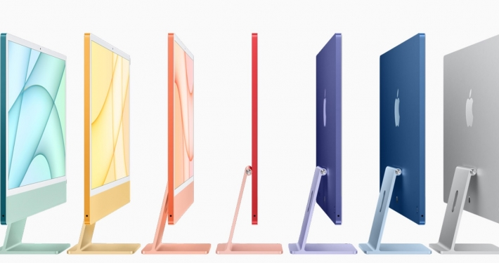 CUPERTINO - CALIFORNIA * APPLE: « ALL-NEW IMAC FEATURES STUNNING DESIGN IN A SPECTRUM OF VIBRANT COLOURS, THE BREAKTHROUGH M1 CHIP AND A BRILLIANT 4.5K RETINA DISPLAY »