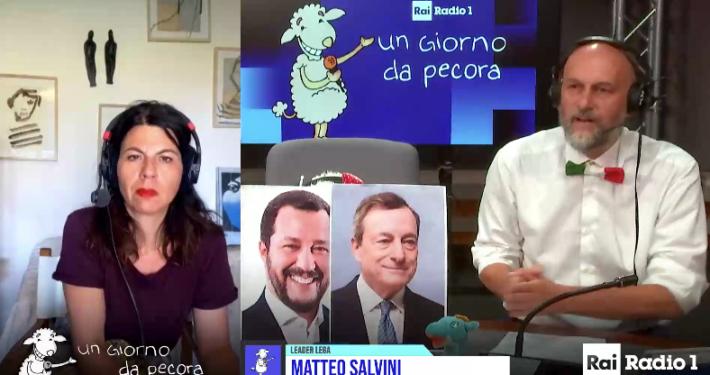 """RADIO 1 - """" UN GIORNO DA PECORA """" * SALVINI: « FINE COPRIFUOCO IN MOLTE REGIONI? SONO MOLTO CONTENTO »"""