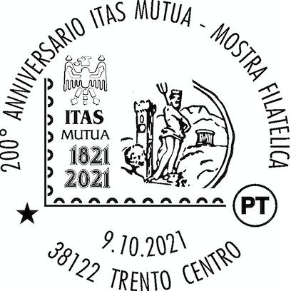 POSTE ITALIANE * ITAS MUTUA: « DISPONIBILE L'ANNULLO FILATELICO DEDICATO AL 200° ANNIVERSARIO, A TRENTO IN PIAZZA DELLE DONNE LAVORATRICI SABATO 9 OTTOBRE »